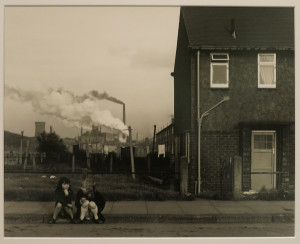 Chris Killip, Two girls, Grangetown, Middlebrough, Teeside, gelatin silver print, 16 x 20 inches (approx.), 1975.