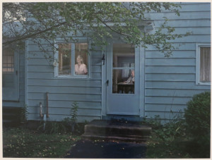 Gregory Crewdson, Woman at Kitchen Window, digital pigment print, 45 1/16 x 57 9/16 inches, 2013.