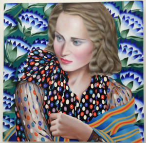 Jocelyn Hobbie, Cobalt (Emerald), oil on canvas, 20 x 20 inches, 2016.