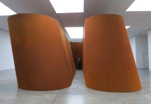 "Richard Serra, NJ-1, weatherproof steel, six plates, overall 13' 9"" x 51' 6"" x 24' 6"", 2015."