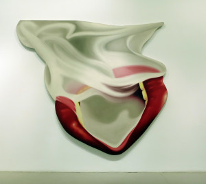 Tom Wesselmann, Smoker #14, oil on canvas, 101 x 114 inches, 1974.