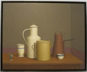 William Bailey, Doglio, oil on linen, 36 x 39 inches, 2007.