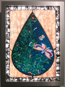 Judith Schaechter, Botanical Study, Stained Glass Lightbox, 20 x 15 x 4 inches, 2016.