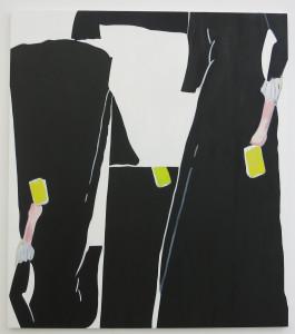 Elizabeth McIntosh, Black Dress, oil on canvas, 85 x 75 inches, 2016.