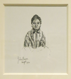 Francesca Alexander, Julia Benson, ink on paper, 5 1/8 x 4 ¾ inches, 1852.