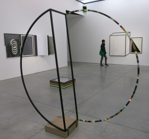 Matthias Bitzer, installation view of 'A Different Sort of Gravity,' at Marianne Boesky Gallery through Dec 17th.